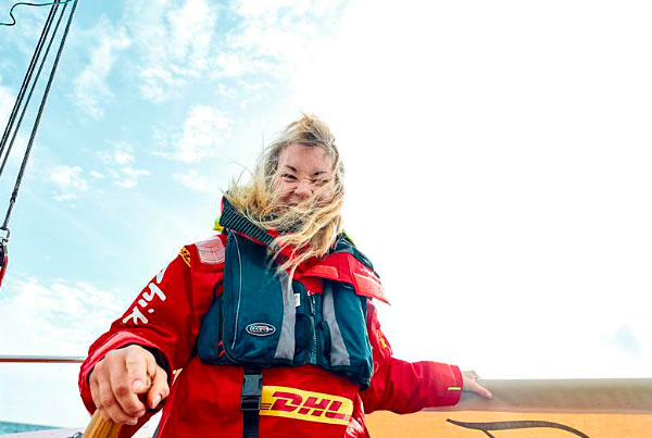 Susie Goodall in the Golden Globe Race 2018